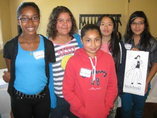 Five of the seven wonderful young women whom we sponsored to attend Tech Trek camp at Sonoma State University this past June attended the Birthday Party/Kick-Off. They each shared with us how Tech Trek made a difference to them and expressed their thanks.