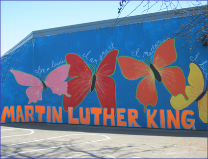 School Group - Mural- MLK Spelled Out - for site 8 28 15