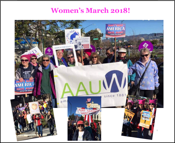 Members of our branch at the Women's March in Oakland