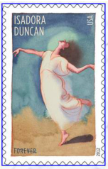 New Postage Stamp honoring Isadora Duncan