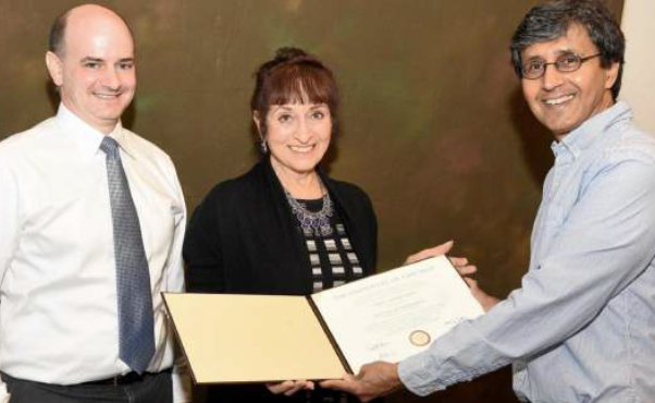 Cheryl Sundari Dembe being honored